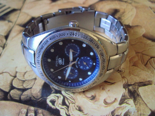 relógio fóssil blue