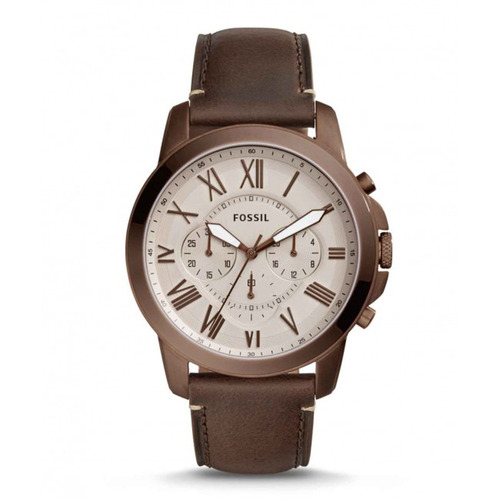 relógio fossil couro - fs5344/2pn