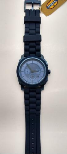 relógio fossil cronografo analogico azul diametro 46mm