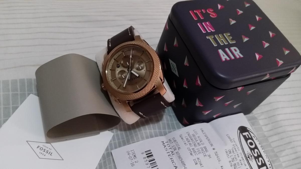 56db61dd6a5 relogio fossil cronografo dourado com nota fiscal de compra. Carregando zoom .
