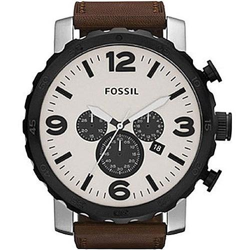 relógio fossil cronografo puls.couro fjr1390/z + frete