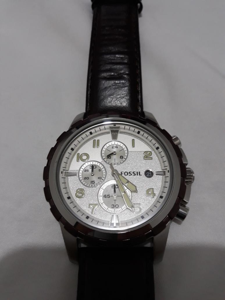 a0b29aede4c relógio fóssil cronografo semi novo usado poucas vezes. Carregando zoom.