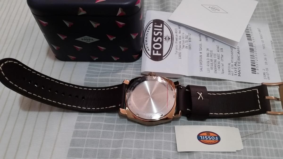 673bb1e1641 relógio fossil dourado com cronógrafo - modelo 2017 com nf. Carregando zoom.