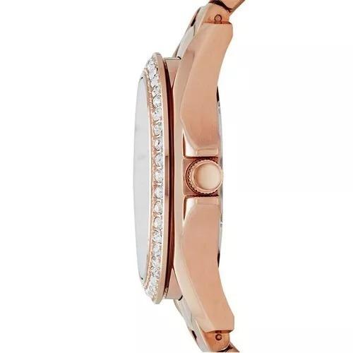 relógio fossil es3531 riley rose pink -novo nf