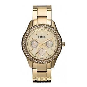 Relógio Fossil Feminino Dourado Multif Cronógrafo - Fes2861z