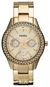 47e9ce7938f629 Relógio Fossil Es3354 (modelo Feminino Dourado) Original - Relógios ...
