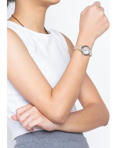 relógio fossil feminino ref: es4530/0kn carlie madre pérola