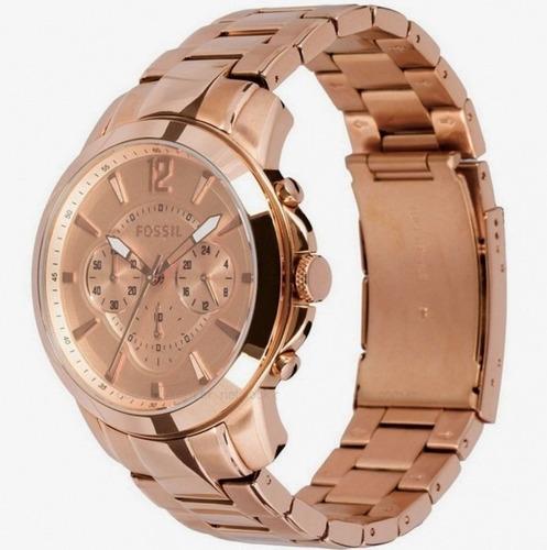 relógio fossil feminino rosê fs4635/z original e barato
