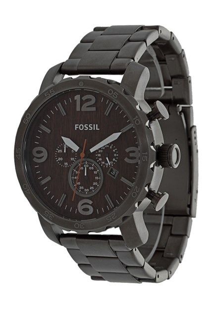1a0da8ac6ca33 Relógio Fossil Fjr1355 z Cronógrafo Caixa Em Aço - Clocke - R  1.199 ...
