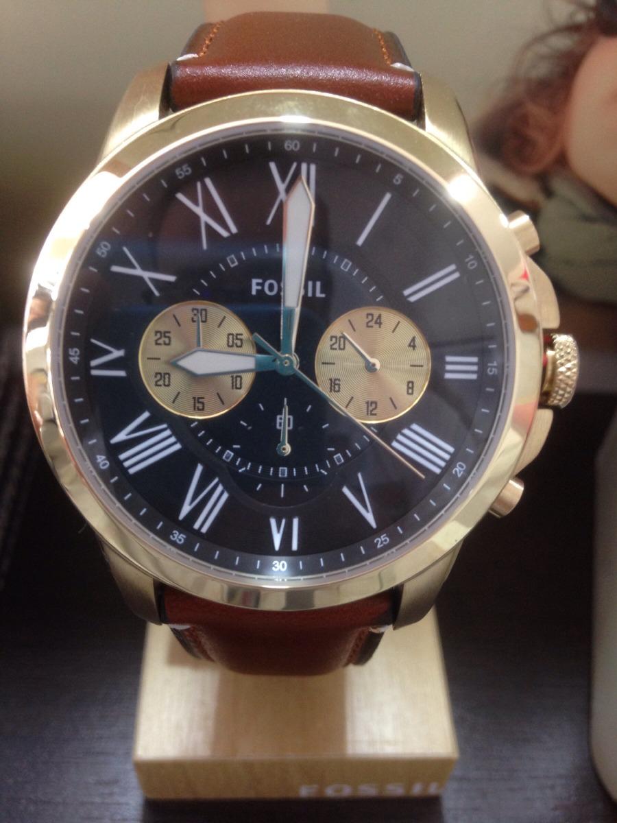021545b029d relógio fossil grant dourado original com nota - loja. Carregando zoom.