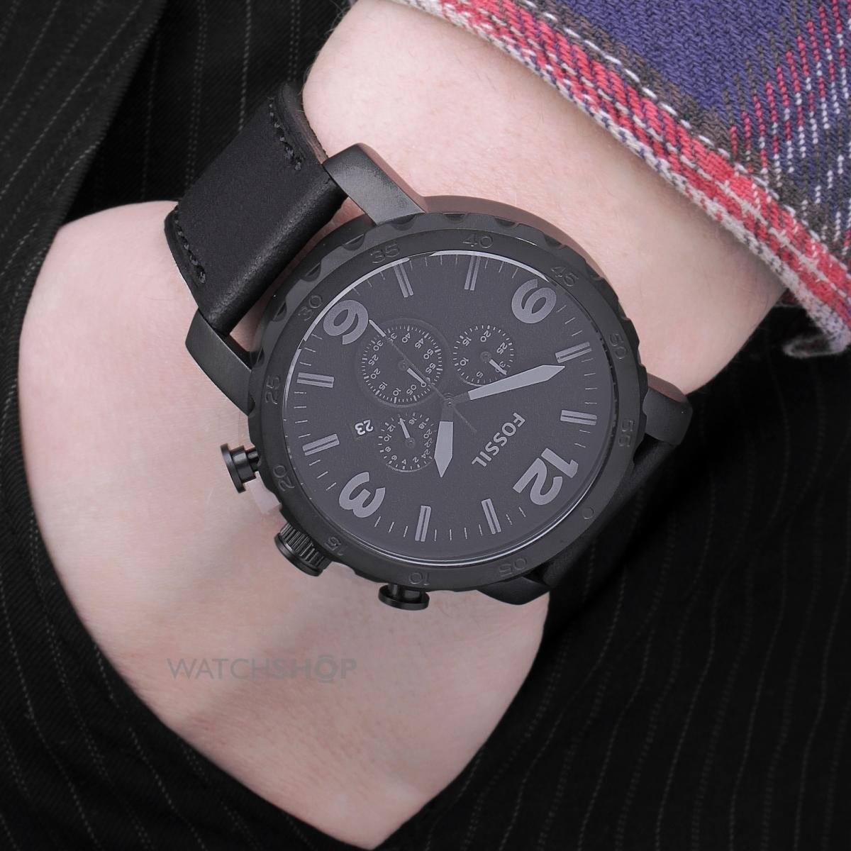 6b9a6221b8e relógio fossil jr1354 analogic chronograph leather original. Carregando  zoom.