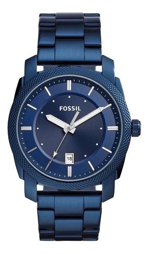 relógio fossil machine azul - fs5231/1an c/ nf e garantia o