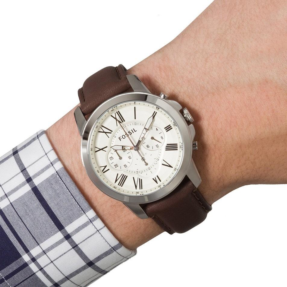 1d03ef04adc ... couro marrom novo original · relógio fossil masculino. Carregando zoom.