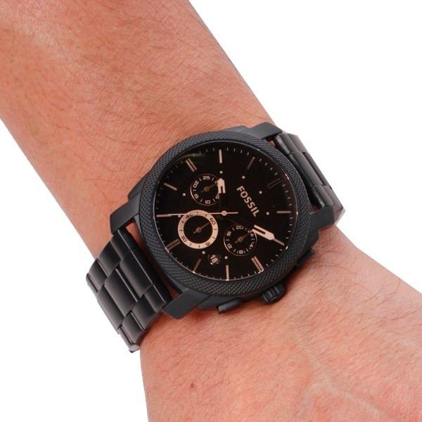 Relógio Fossil Masculino Fs4682 Preto Metal Novo Original - R  814 ... 08df95dac9
