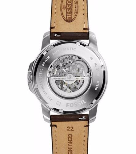 relógio fossil masculino automático me3100 original c/ nota