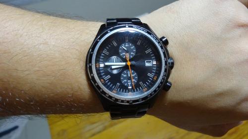 relógio fossil masculino ch2754 metal black original