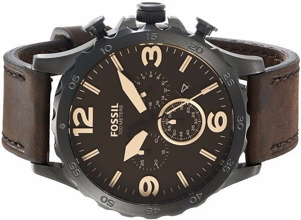 74ebb7e9751c1 Relógio Fossil Masculino Fossil Jr1487 Nate - R  740,00 em Mercado Livre