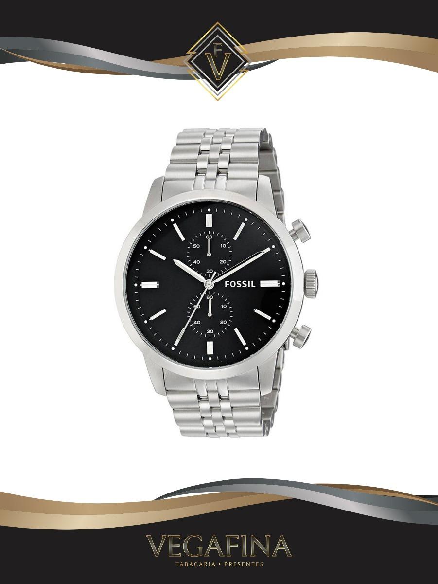b64c40b222c91 relógio fossil masculino fs4784 1pn cronografo prateado. Carregando zoom.