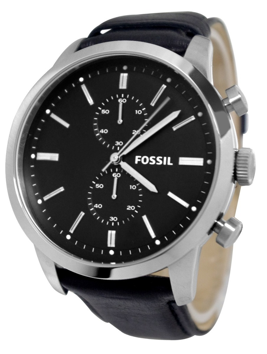 43753994d517d relógio fossil masculino fs4866 pulseira de couro preto. Carregando zoom.