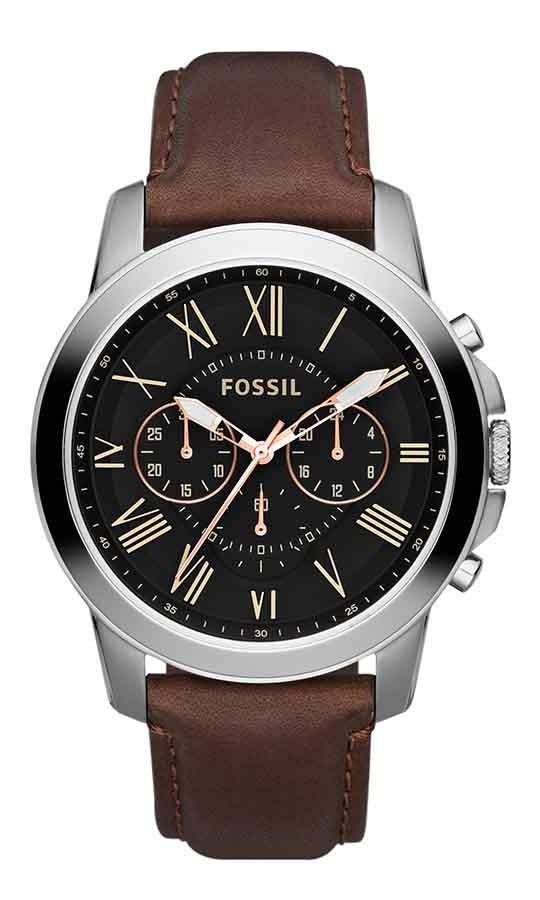 016c31a7ca672 relógio fossil masculino grant fs4813 0pn cronografo couro. Carregando zoom.