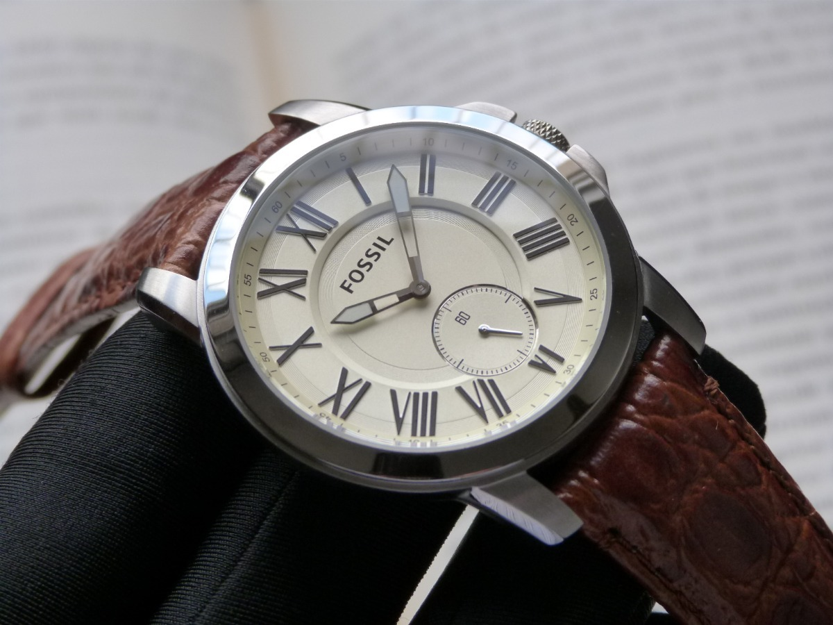 cc1dd6e116588 relógio fossil masculino grant fs4963 0xn social slim couro. Carregando  zoom.