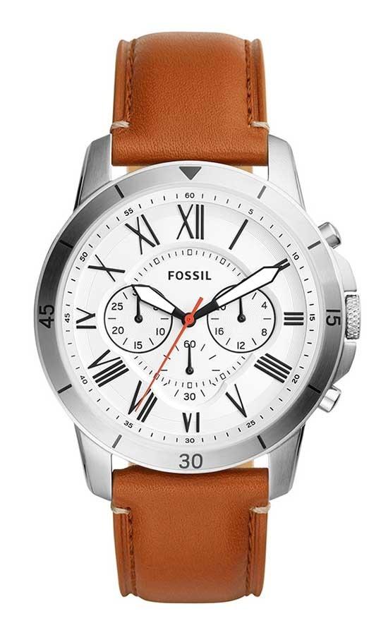 fd9f57d50c416 relógio fossil masculino grant fs5343 0bn aço couro marrom. Carregando zoom.