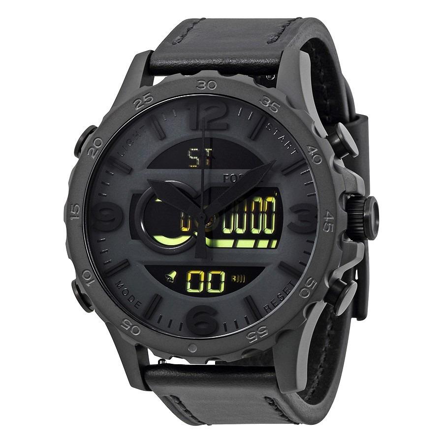 relógio fossil masculino jr1520 couro analogico digital. Carregando zoom. 21021c4555