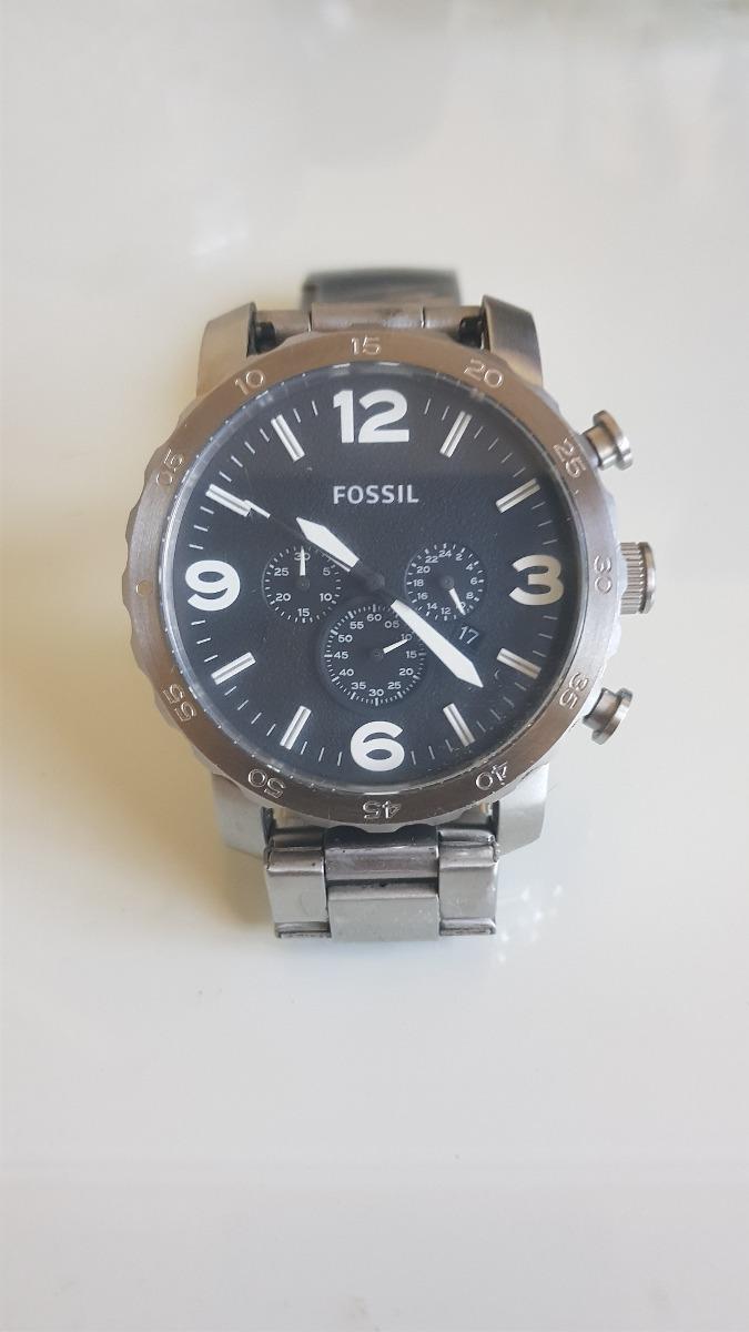 f0c27d16d27df Relógio Fossil Masculino Nate Chronograph - R  489,00 em Mercado Livre