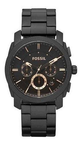 relogio fossil masculino preto  fs4682/1cn