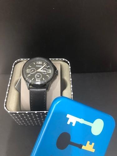 relógio fossil masculino preto mostrador arábico original