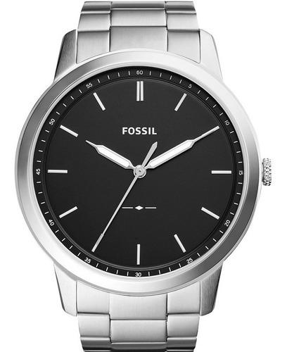 relógio fossil masculino the minimalist original fs5307/1pn