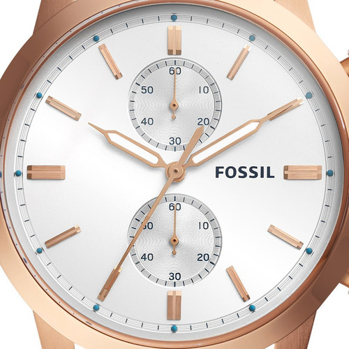 relógio fossil masculino townsman fs5468/1mn