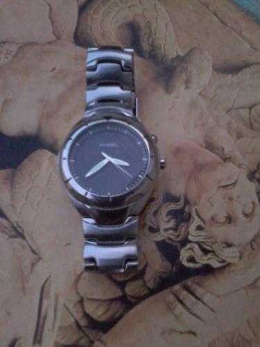 relógio fóssil mostrador dualcolor