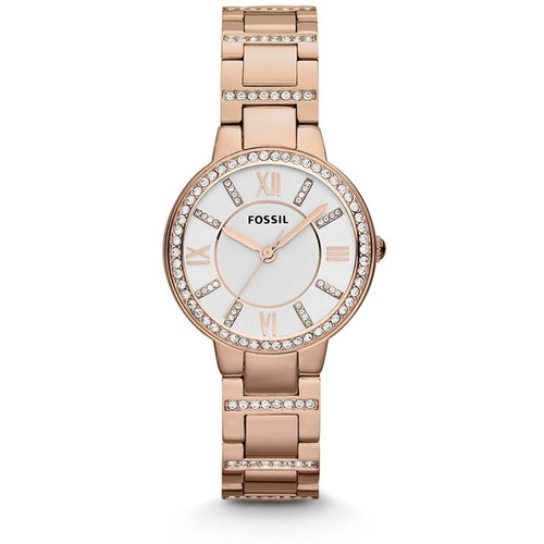 relógio fossil virginia es3284 rose-gold feminino original
