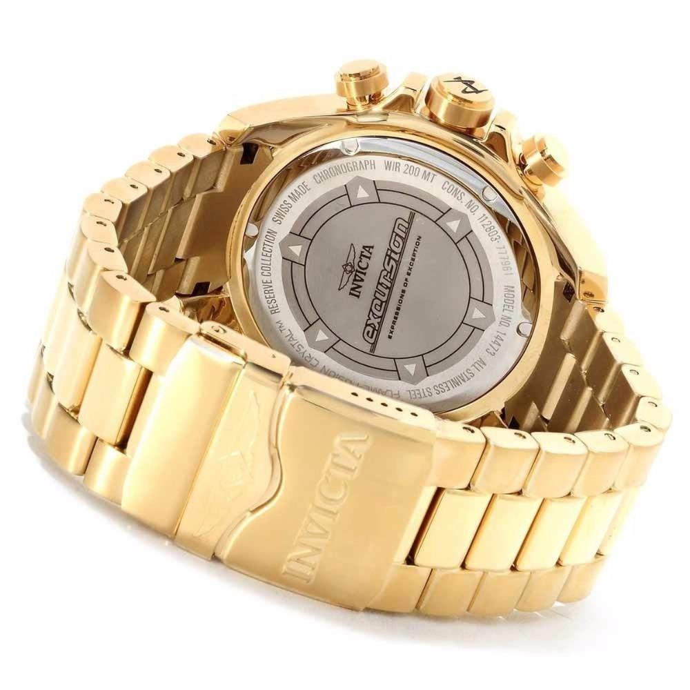 39ed3b2a74a relógio fr4 invicta reserve excursion 6471 dourado novo s cx. Carregando  zoom.