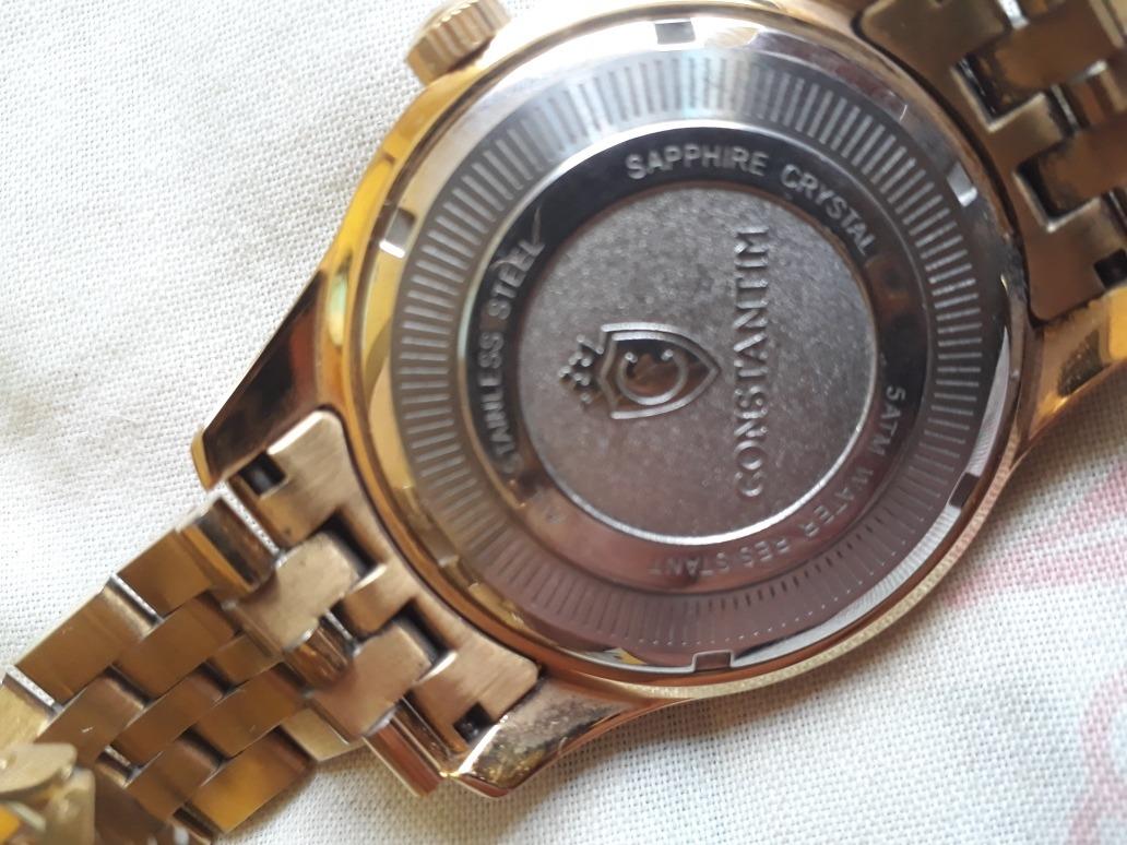 43194900f3d relógio francês. constantim diamond black. Carregando zoom.