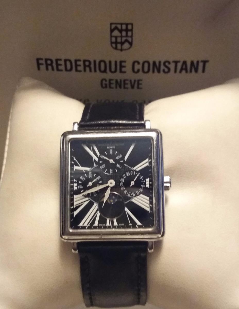720f83bd0f3 relógio frederique constant quadrado masculino. Carregando zoom.