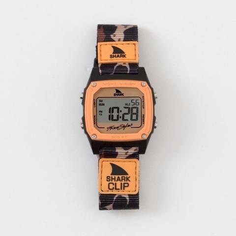 relógio freestyle shark clip tigre laranja importado nylon