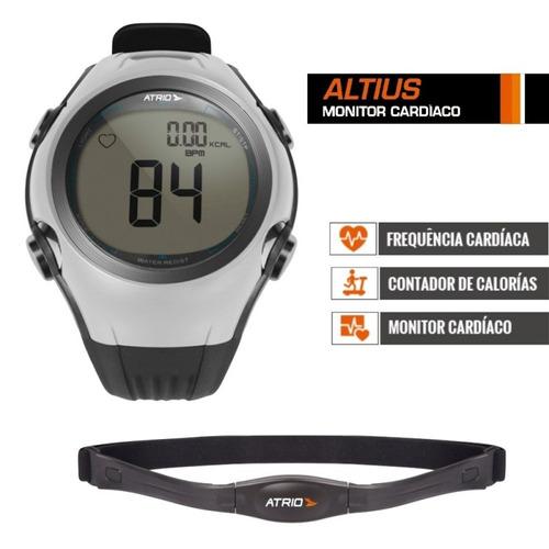 relógio frequencímetro atrio com cinta abdominal + garantia