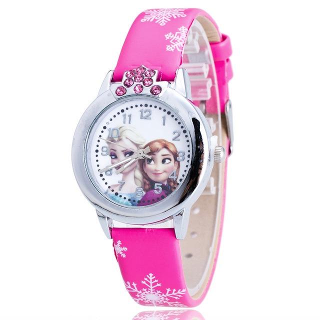 76f7c366fd0 Relógio Frozen Princesa Anna E Elsa Moda Menina Criança - R  37