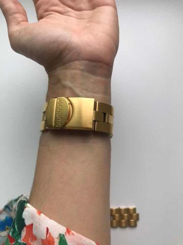relógio full-blooded swatch original usado dourado