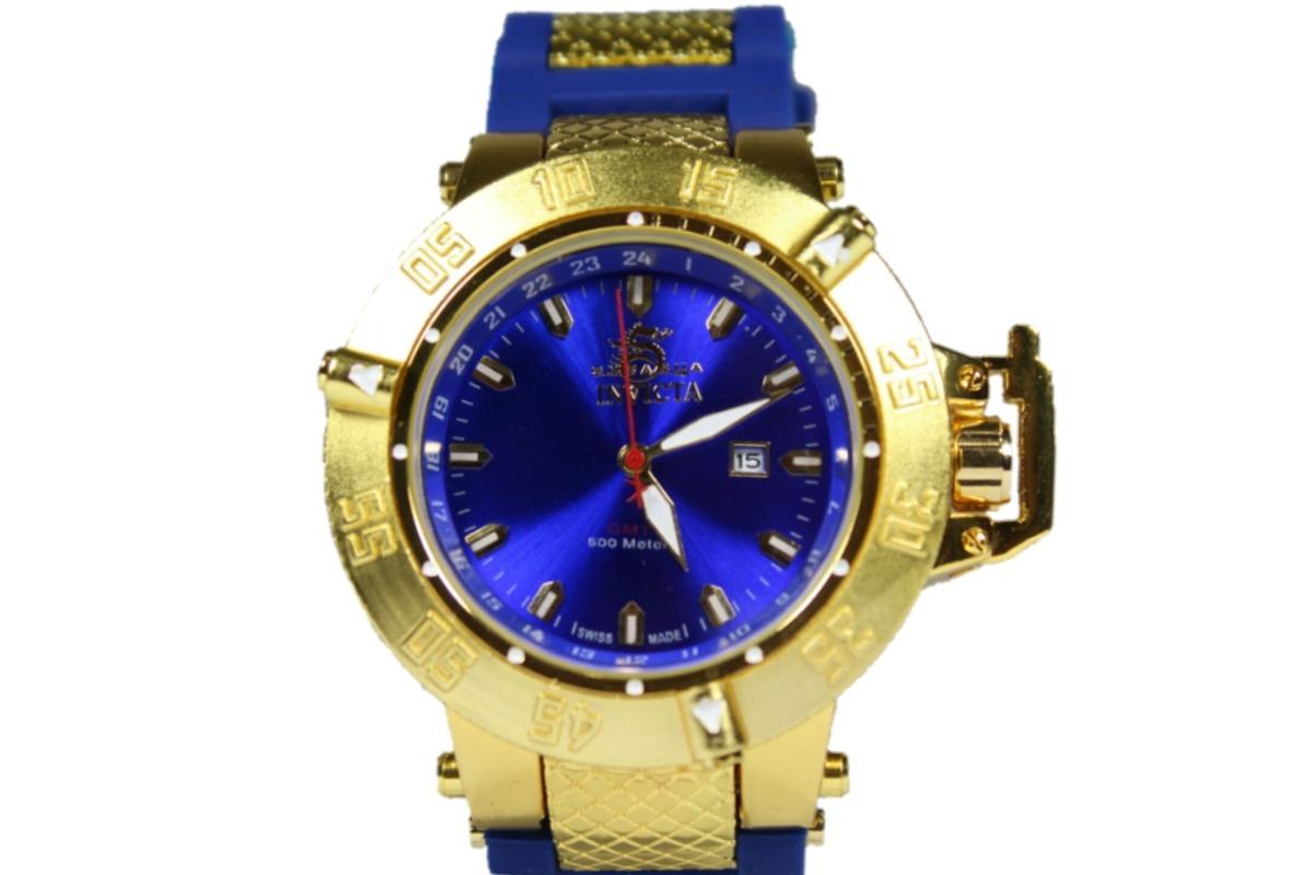 1cdade50d relogio fundo azul dourado masculino promoção barato. Carregando zoom.
