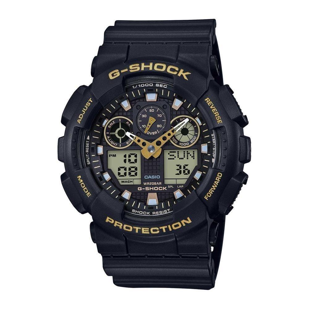 1aacb809001 relógio g-shock 100gbx-1a9dr preto dourado. Carregando zoom.