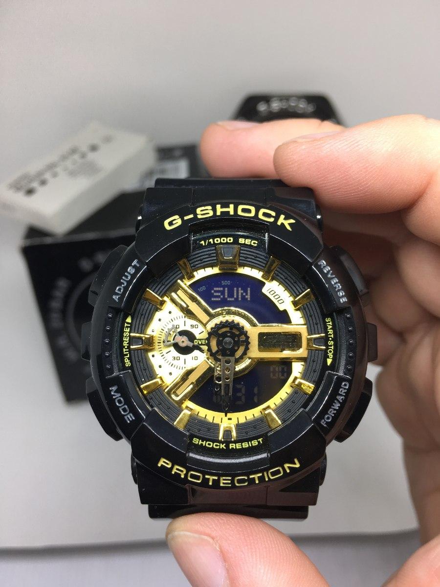 0e1e47b8511 relógio g-shock 5146 ga110gb-1a- preto-dourado 12 x s juros. Carregando zoom .