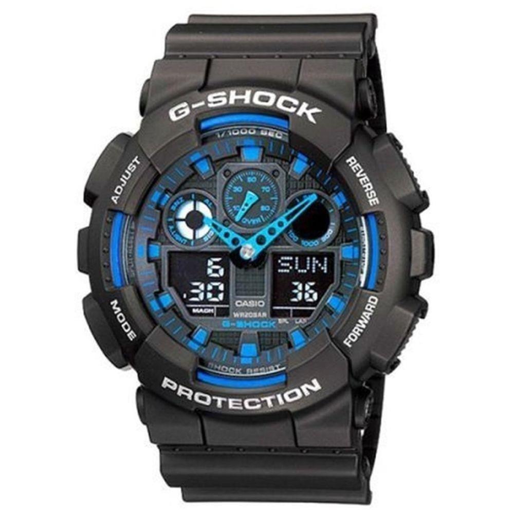 2e01ef416cb Relógio G-shock Anadigi Casio Masculino Ga-100-1a2dr - R  619