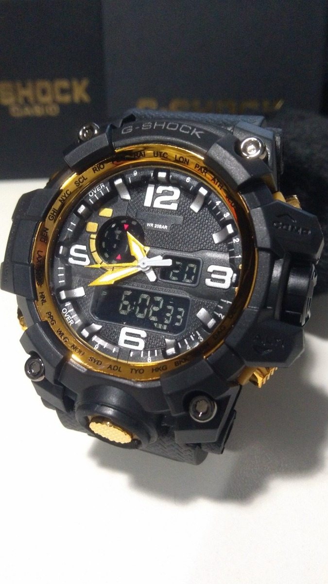 4fd43335341 Relgio Digital G Shock Ga 710gb 1adr Preto E Dourado ✓ The GMC Car