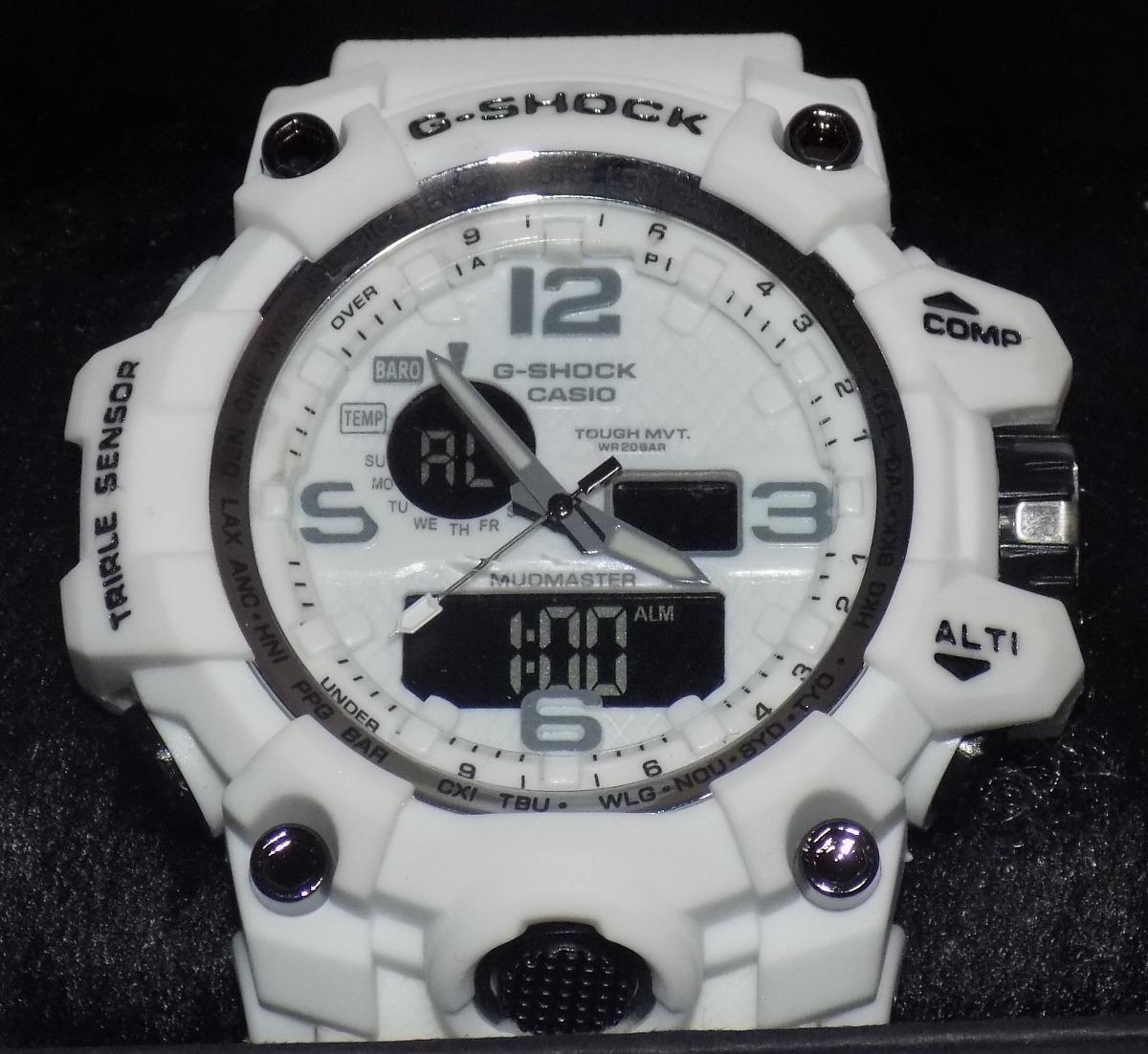 11a327c5408 relógio g shock branco barato masculino resistente a agua. Carregando zoom.