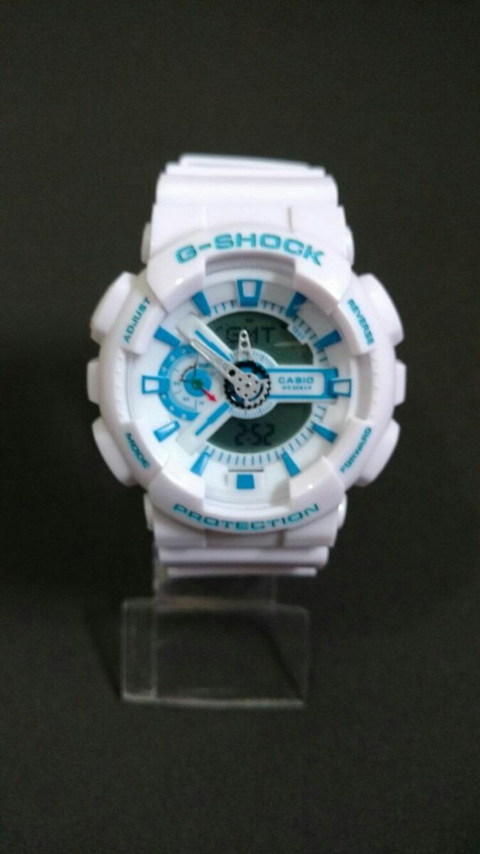 7127bee8e2b relógio g-shock branco e azul barato +brinde. Carregando zoom.