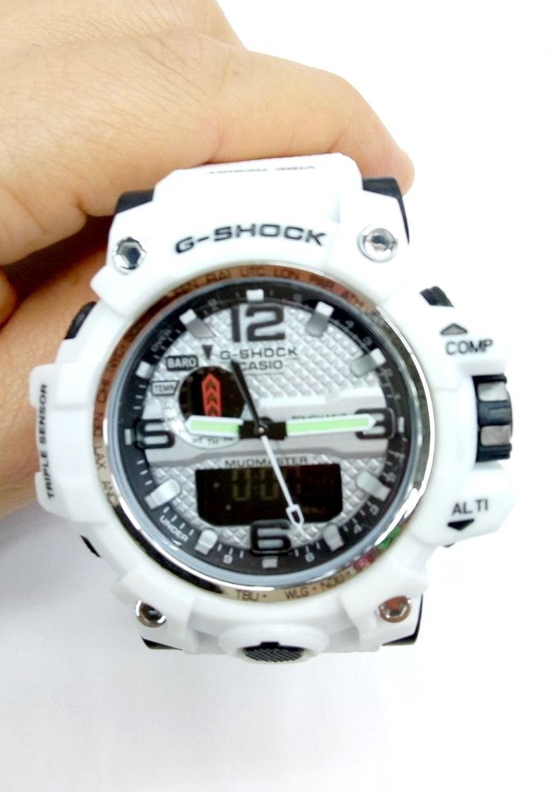 969f0ba3f63 relógio g-shock branco prova d água + caixa + frete grátis. Carregando zoom.