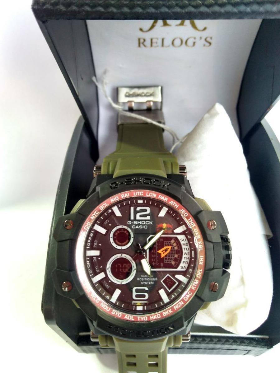 ddba8ba9962 relógio g-shock caixa preta pulseira verde importado. Carregando zoom.